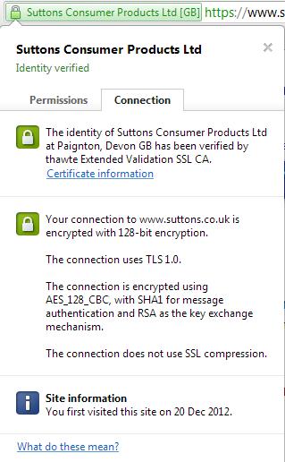 Google Chrome Website Security