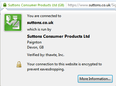 Mozilla Firefox Website Security