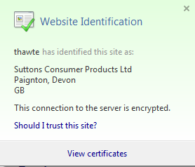 Internet Explorer Website security