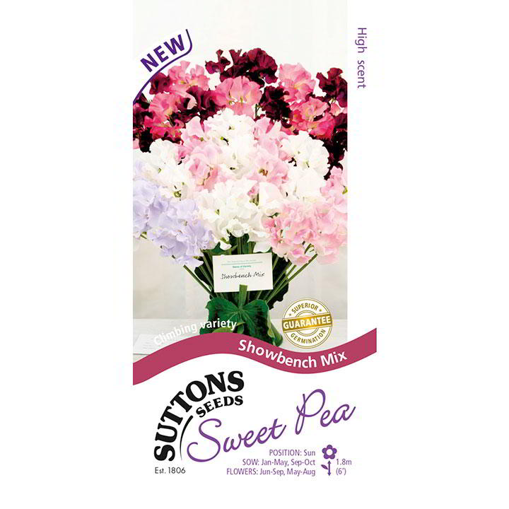 Sweet Pea Seeds - Showbench Mix