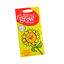 Sunflower Giant Single Suttons character-based seed packets feature educationally based 'fun facts including fascinating information on the origins of