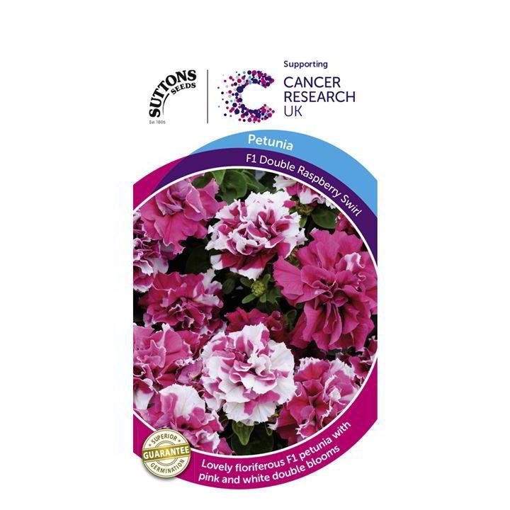 Petunia Seeds - Double Raspberry Swirl