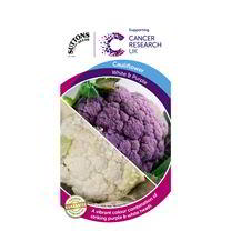 Cauliflower Seeds - All The Year Round & Di Scilia Violetta