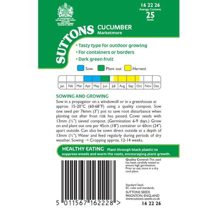 Cucumber Seeds - Marketmore
