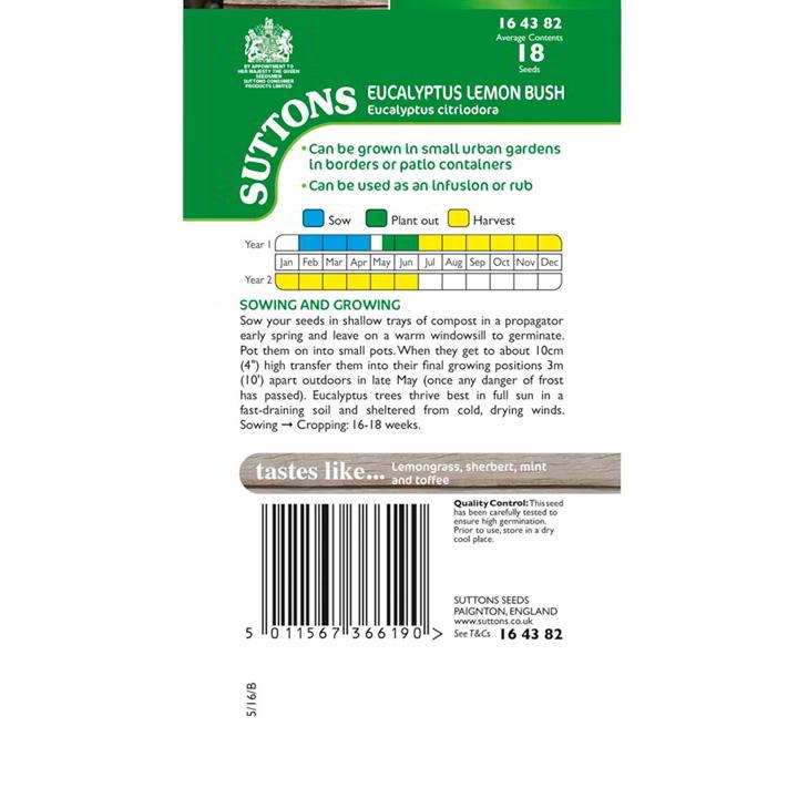 Herb Seeds - Eucalyptus Lemon