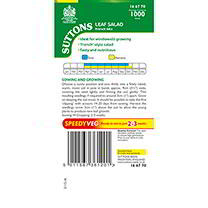 Leaf Salad Seeds - French Mix