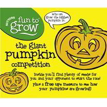 Join the great pumpkin race, it's great fun for all the family! Who can grow the biggest pumpkin in. . Just choose your seeds, note your sowing date a