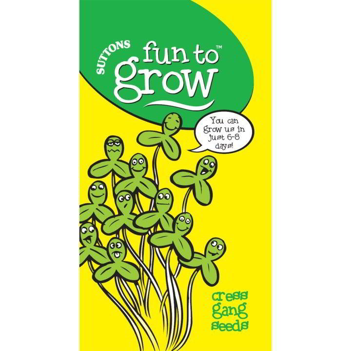 Fun Grow Seeds Cress Gang