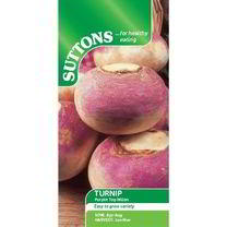 Turnip Seeds - Purple Top Milan