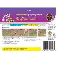 Lettuce Seed Tape - Webbs Wonderful