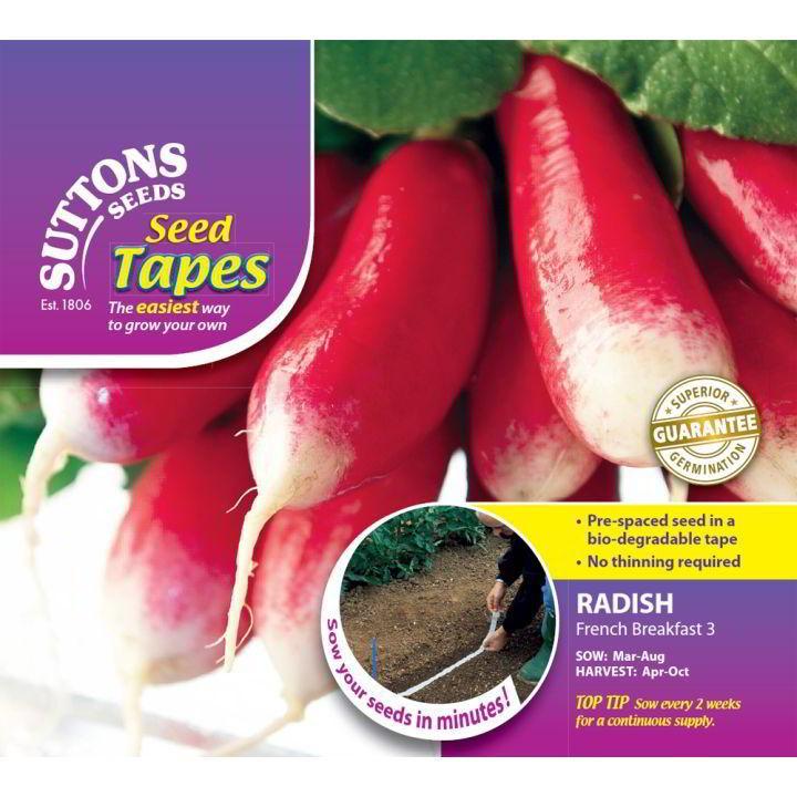 Radish Seeds Information Radish Seed Tape French
