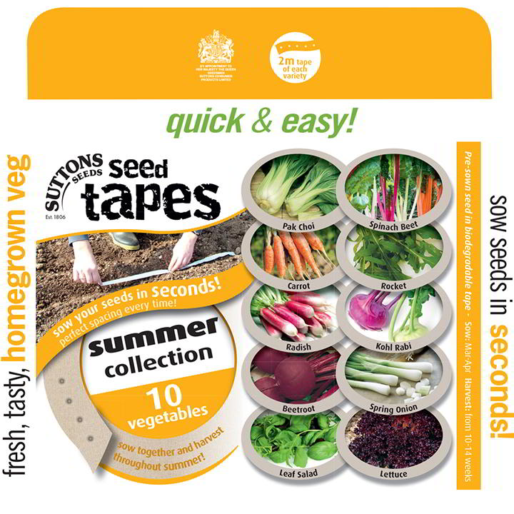 Seed Tapes - Summer Harvesting Collection