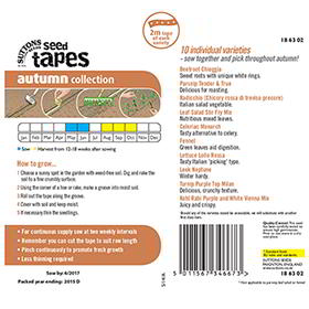 Seed Tapes - Autumn Harvesting Collection