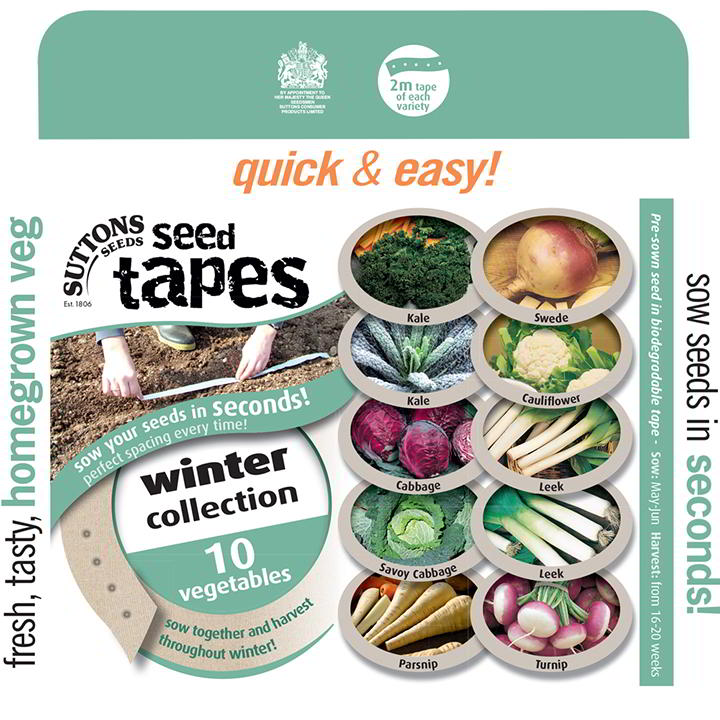 Seed Tapes - Winter Harvesting Collection