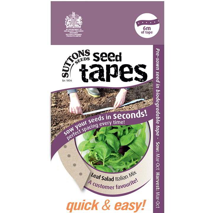 Seed Tape - Leaf Salad Italian Mix