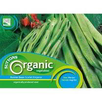 Bean (Runner) Scarlet Organic Seeds