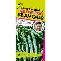 James Wong Grow For Flavour Range. James says Dried and smoked, it takes on a sweet, berry-like flavour with hints of chocolate. The dark brown, almos