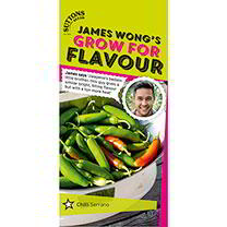Part of James Wong Grow For Flavour Range. James says: 'Jalapeos badass little brother, this guy gives a similar bright, biting flavour but with a ton