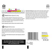 Radish Seeds - Twin Pack Black Spanish Long/Long White Icicle