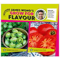 Part of the James Wong Grow For Flavour Range. James says Intensely rich Russian Rose meets the bright, tangy sugar hit of Green Envy. Green Envy A re