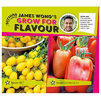 Part of the James Wong Grow For Flavour Range. James says The ultimate heirloom sauce tomato San Marzano meets the perfect cherry Ildi. lldi This quir