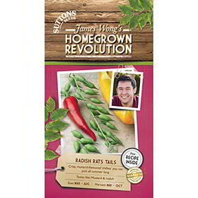 Part of the James Wong Homegrown Revolution Range. Crisp, mustard-and-radish flavoured chilli-shaped seed pods you can pick all summer long. Foolproof