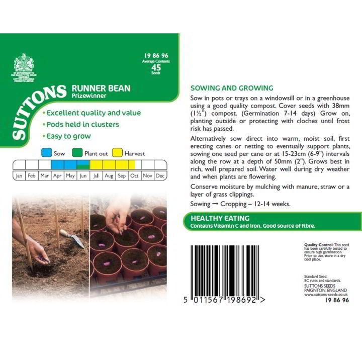 Bean (Runner) Seeds - Prizewinner