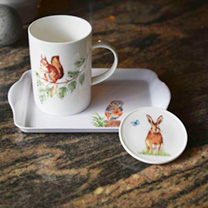 RSPB 'Country Wildlife' Mug, Tray & Coaster Set
