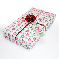 Living wrapping paper. Gift paper impregnated with Poppy Shirley Mixed seed. Once you have unwrapped your present, plant your wrapping paper in your g