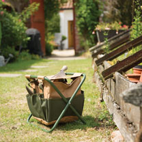 Gardening Stool with Tool Bag