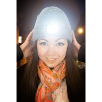 Beamie LED Light Beanie - Grey