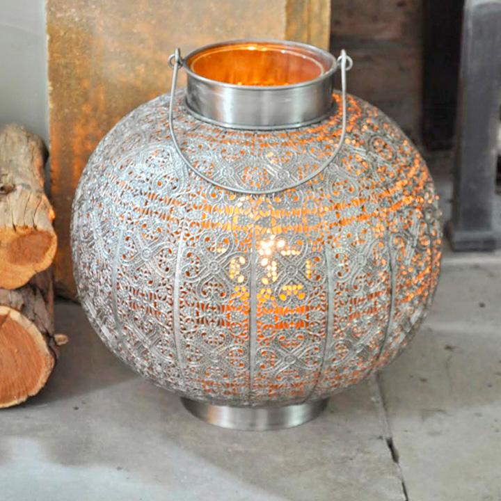 Metallic Candle Lantern