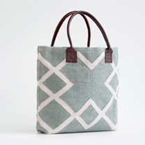 Hand Woven Bag - Dove Grey