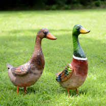 Metal Duck Garden Decoration