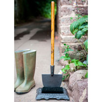 Boot Scraper and Brush with Shovel Handle