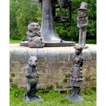 Alice in Wonderland Garden Figures