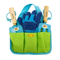 Personalised Children's Gardening Tool Kit - Blue