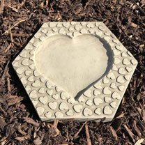Heart Stepping Stone Insect Drinker