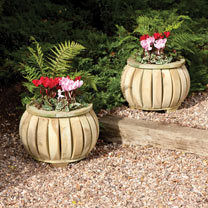 Marberry Ball Planter x 2