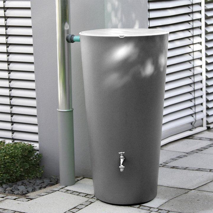 Rain Bowl Water Tank - Slate 210 Litre
