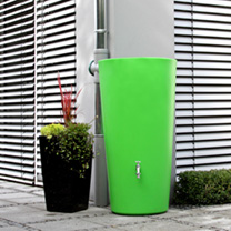 A simple and stylish shaped water butt that will slot into any outdoor area, is ideally suited to more urban environments and the most vibrant of our