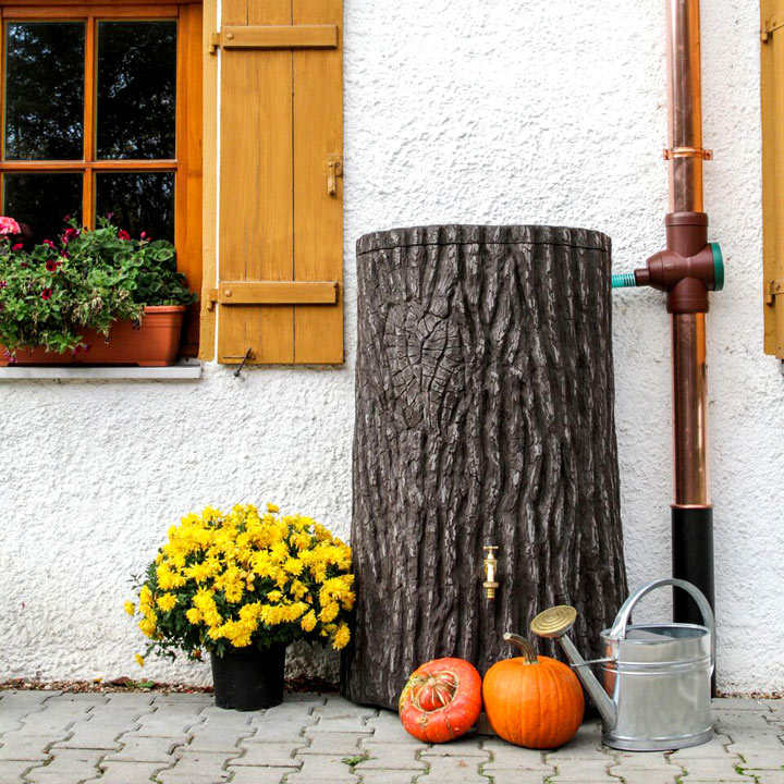 Evergreen Dark Brown 475ltr Water Tank Water Butts And