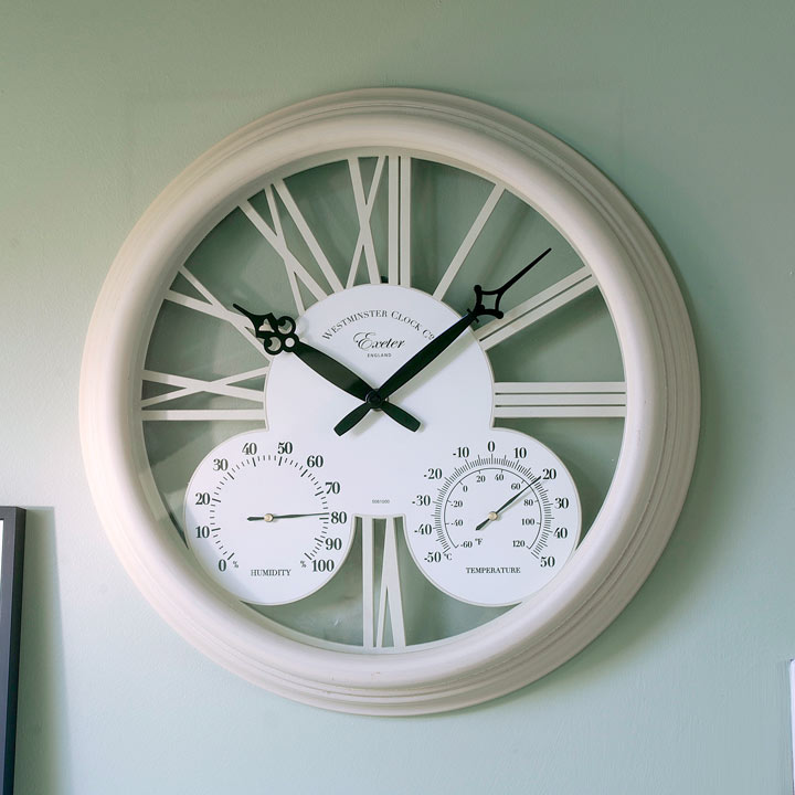 Exeter Cream Clock Decorative In The Garden Gifts