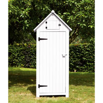 Garden Tool Shed - White