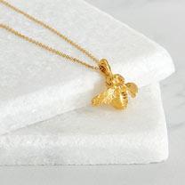Suttons Seeds Gold Vermeil Bee Pendant