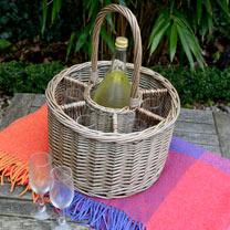Bottle Holder and Wine Glass Basket