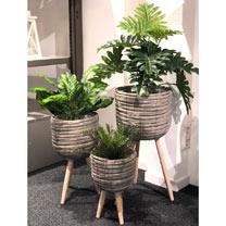 Flower Pot Grey - Set 3 Pieces