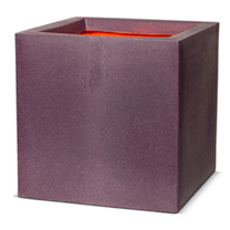 Purple coloured Capi Tutch plant pot by Cadix. This square planter measures 30cm square and is extremely lightweight. Made from high quality, insulati