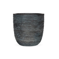 Capi Nature Planter - Egg Rib Black
