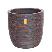 Capi Nature Planter - Egg Rib Brown